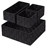 Woven Storage Box Cube Basket Bin Container Tote Organiser Divider For Drawer