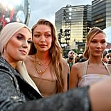Natalie Friedman, Gigi Hadid, and Bella Hadid at the MTV VMAs