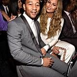 John Legend and Chrissy Teigen at the Grammys 2015