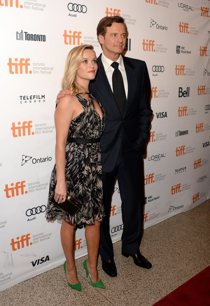 Reese Witherspoon posed with her Devil's Knot costar Colin Firth on the red carpet at the film's premiere.