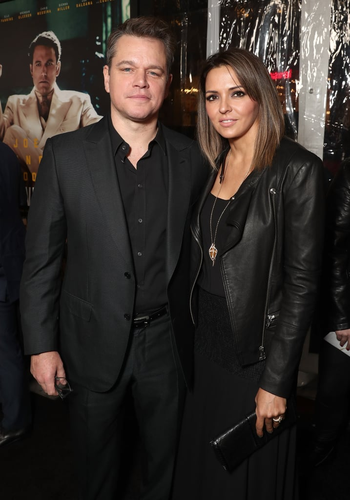 Matt Damon and Wife at...