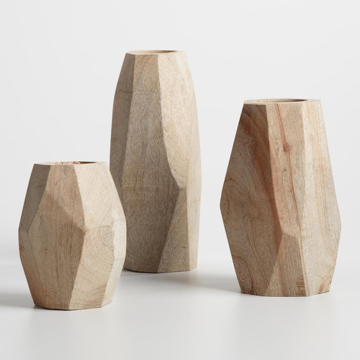 Cost Plus World Market Fall 2016 Collection: Natural Wood Faceted Vase Collection ($13-$20)