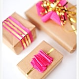 Gold-Accented Gift Wrap