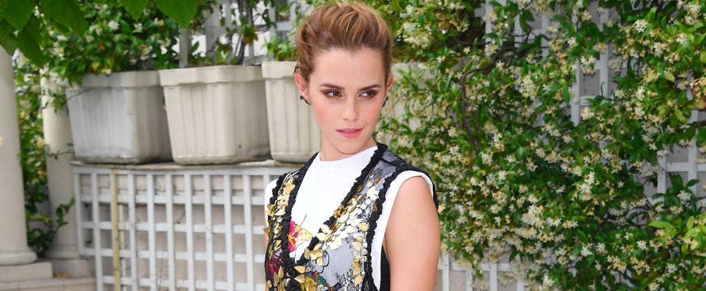 Of Course Emma Watson Found the Most Modest Way to Pull Off a Sheer Dress