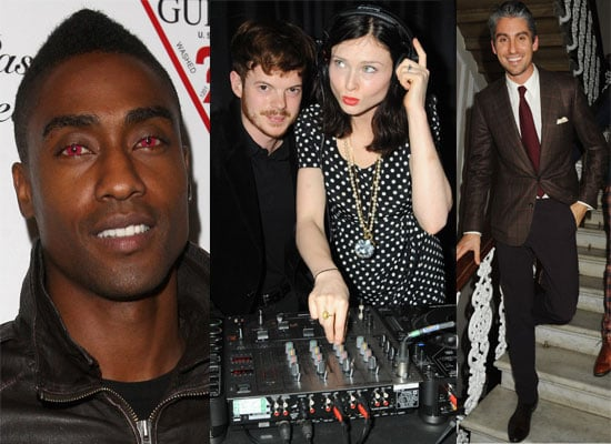 Gallery of Photos of Celebs at Guess Party in London, Simon Webbe with Halloween Red Coloured Contact Lenses,