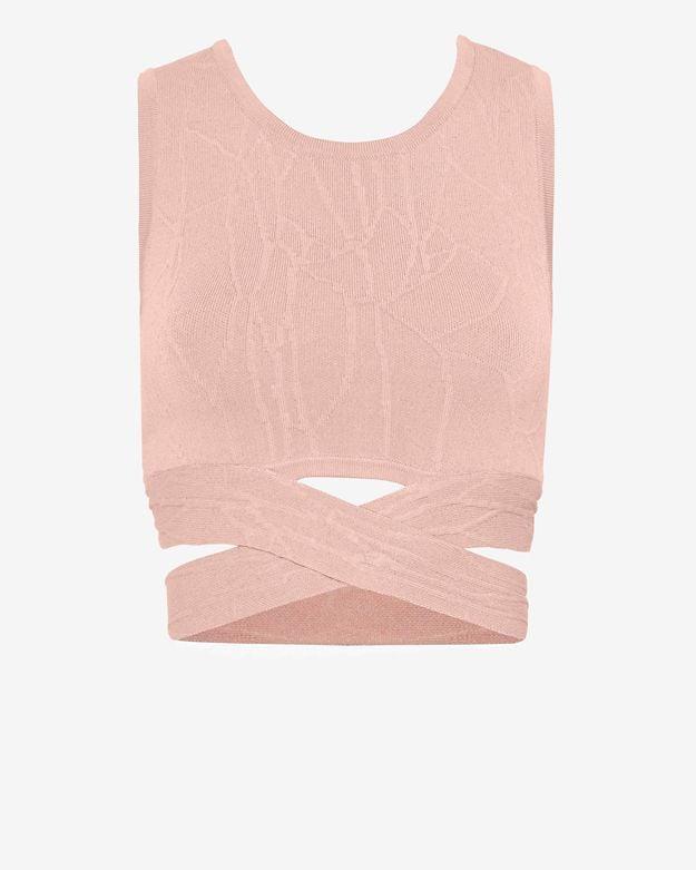 Jonathan Simkhai Crossover Knit Crop Top ($339)