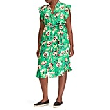 Lauren Ralph Lauren Floral Ruffle Midi Dress