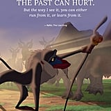 """The past can hurt. But the way I see it, you can either run from it, or learn from it."" — Rafiki, The Lion King"