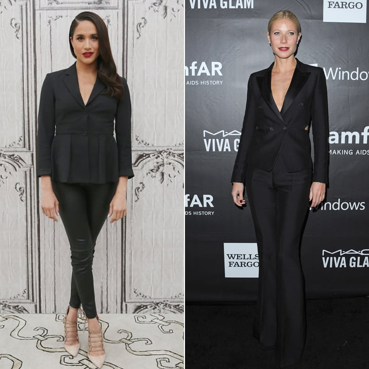 Meghan and Gwyneth Both Love a Good Black Suit For Events