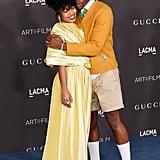 Yara Shahidi Wears Golden Gucci Gown to LACMA Art+Film Gala