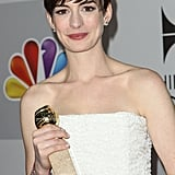 Anne Hathaway hit the red carpet at the NBC after party.