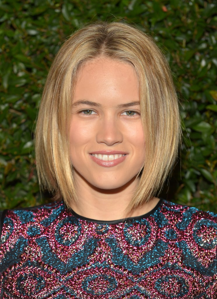 Styling her lob straight with a touch of texture, Cody Horn kept her makeup minimal, but opted for bold brows.