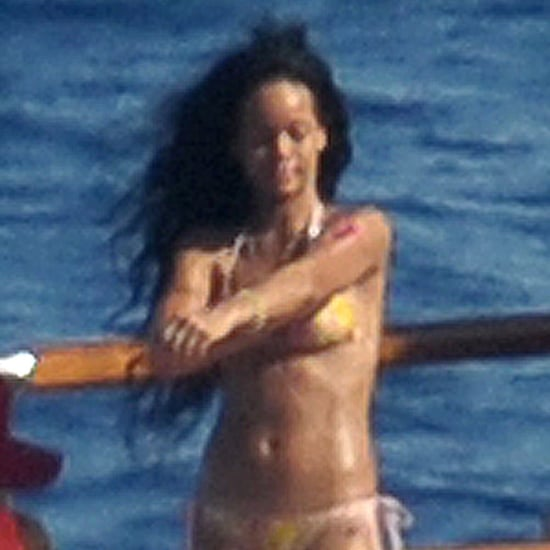Rihanna Wears a Bikini on a Yacht in Italy | Pictures