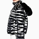 Topshop SNO Zebra Foil Print Jacket