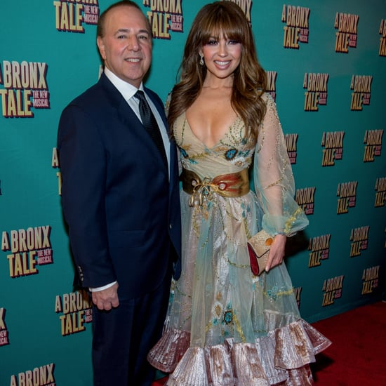 Thalia and Tommy Mottola at A Bronx Tale Broadway Premiere
