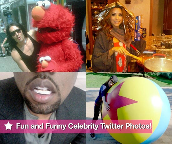 Russell Brand, Eva Longoria, Kanye West and More in This Week's Fun and Funny Celebrity Twitter Photos!