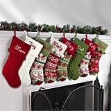 Personalized Snowflake Knit Christmas Stocking