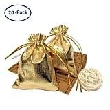 Gold Drawstring Gift Bags