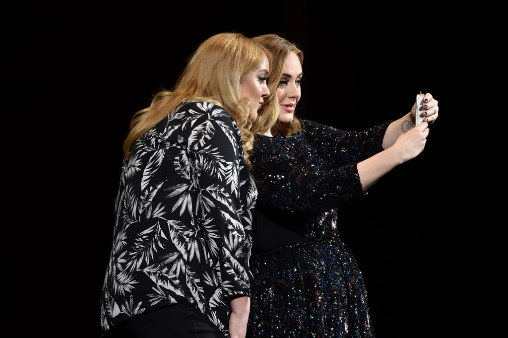 Adele Takes Selfie With Look-Alike Fan March 2016