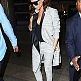 But It Was Her Long Duster-Like Jacket — Aka the Newest Trend For Suits — That Caught Our Eye