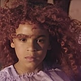 "Blue Ivy's Burgundy Hair in ""Spirit"" Music Video"