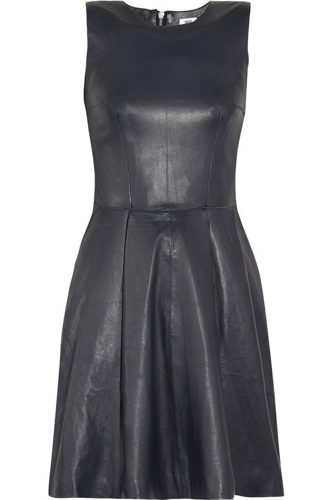 Iris & Ink Pleated Black Leather Dress ($182, originally $455)