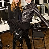 Cara and Kendall Posed Backstage at the Giles Show