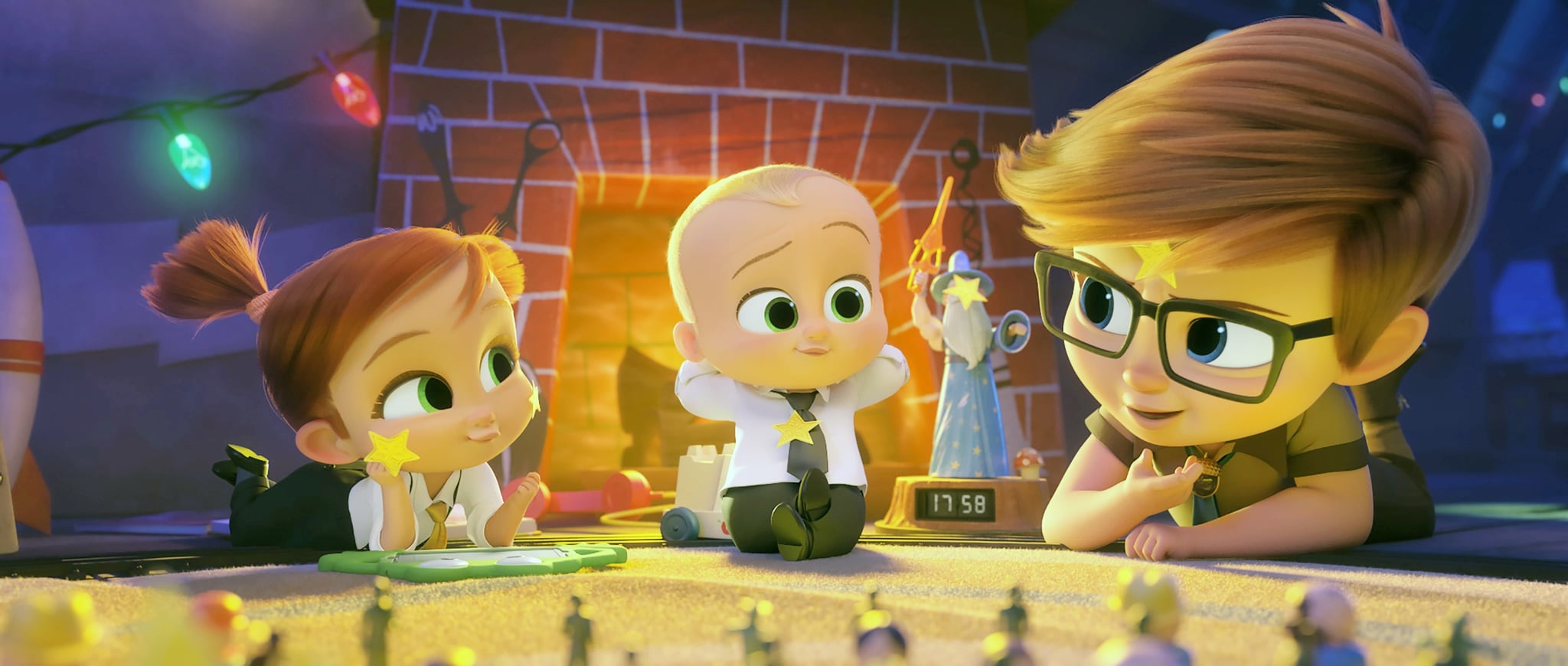 THE BOSS BABY: FAMILY BUSINESS, (aka THE BOSS BABY 2), from left: Tina Templeton (voice: Amy Sedaris), Theodore Templeton (voice: Alec Baldwin), Tim Templeton (voice: James Marsden), 2021.  Universal Pictures / courtesy Everett Collection