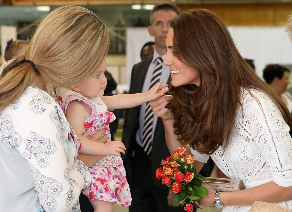 Kate held hands with this little sweetheart when she visited the Sydney Royal Easter Show in April 2014.