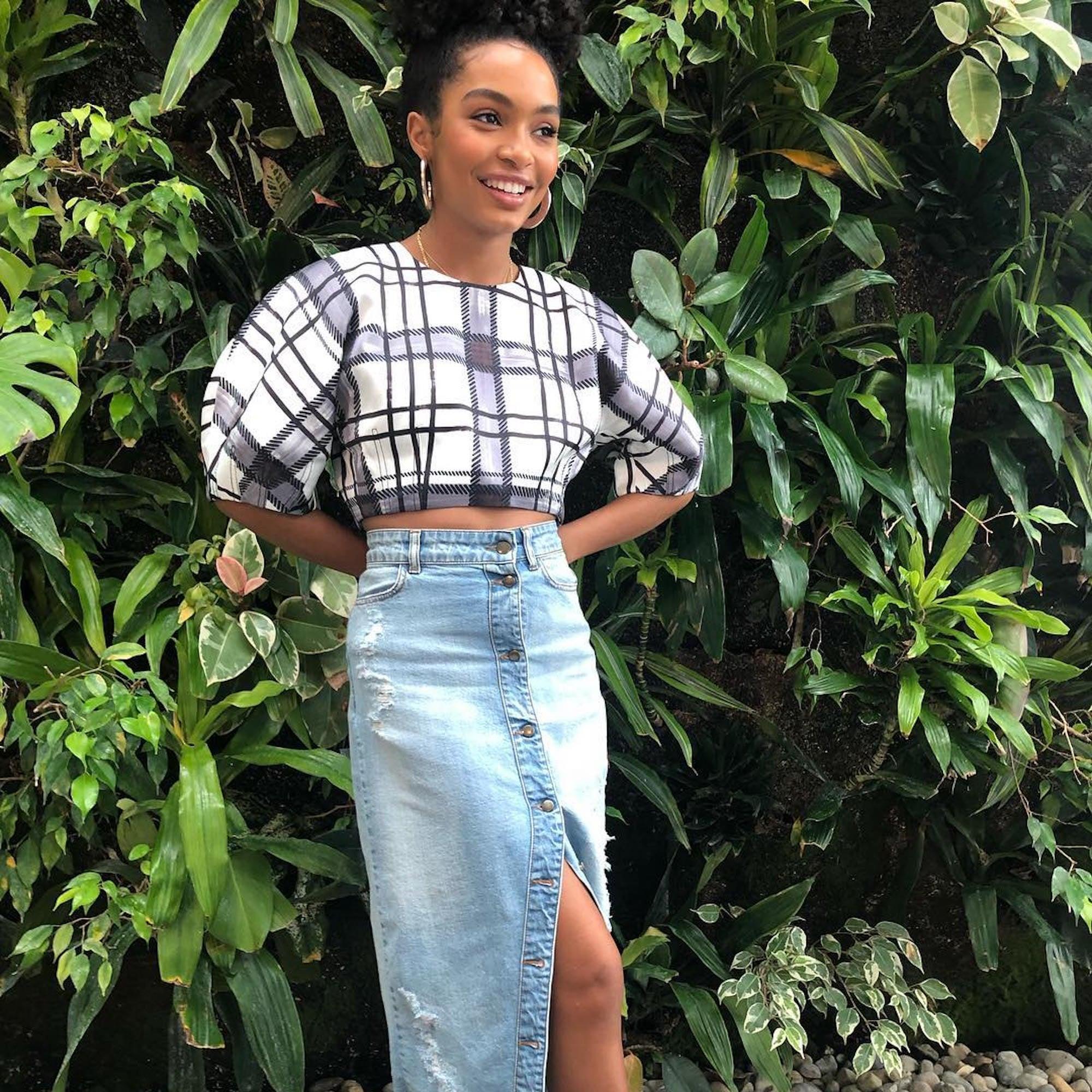 Denim Skirt Outfit Ideas 2019 Popsugar Fashion