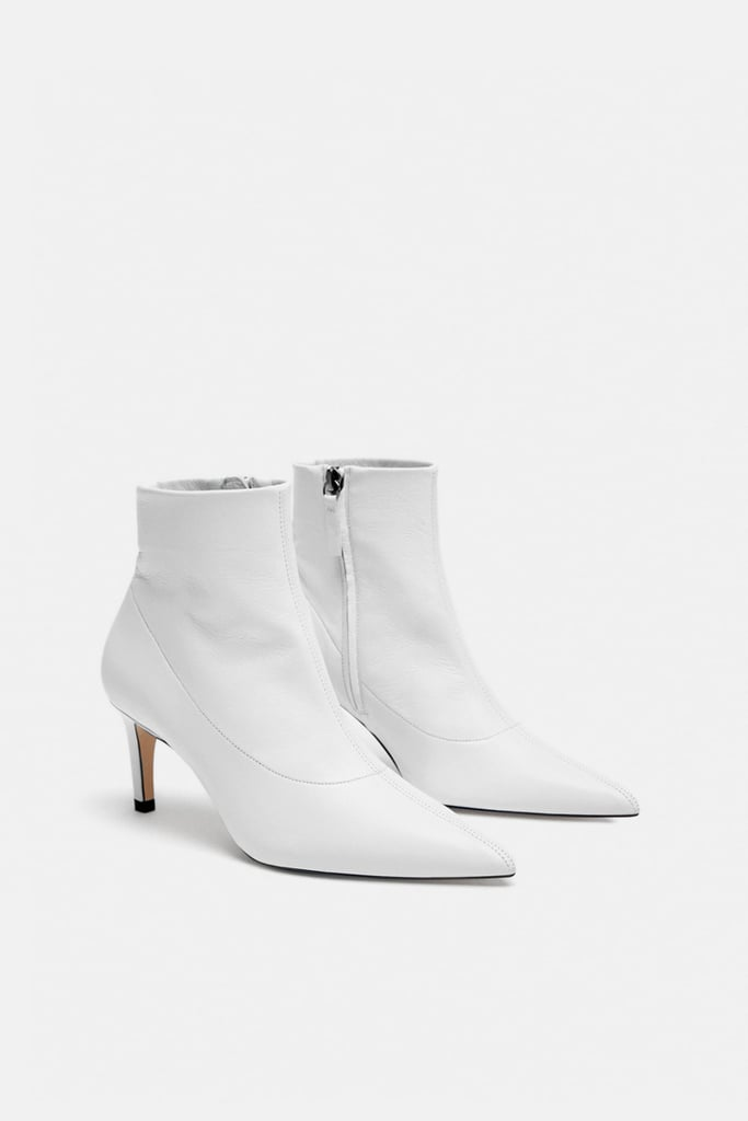 3d7012b0 Zara Leather High Heel Ankle Boot | Boots Trends Fall 2018 ...