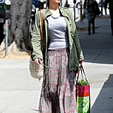 Jennifer Lawrence rocked a laid-back look in LA.