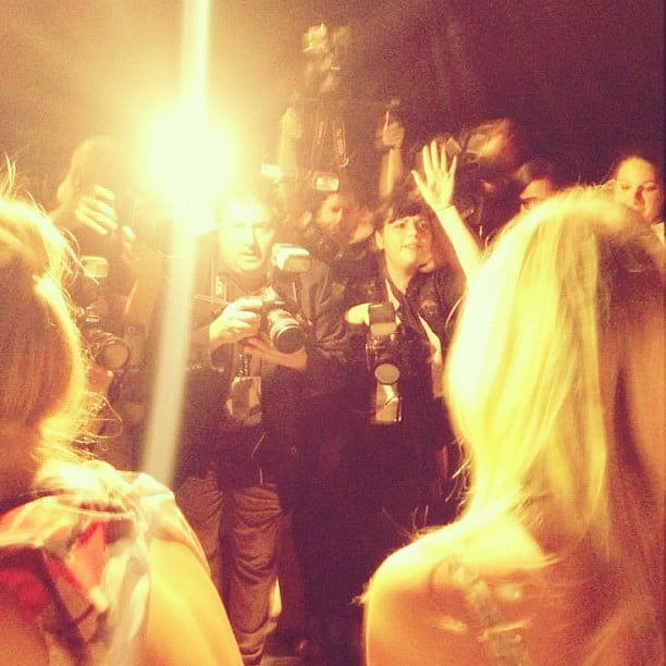 Lauren Conrad snapped a pic of the photographers during NYFW. Source: Instagram user laurenconrad
