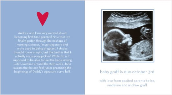 email baby announcement