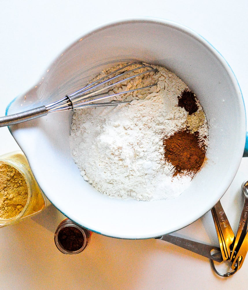 Gather and whisk together dry ingredients.