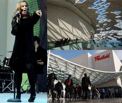 Westfield London, Mall, Shopping, Leona Lewis, Twiggy