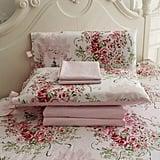Fadfay Rose Floral 4 Piece Bed Sheet Set