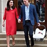 Kate Middleton Wearing a Red Jenny Packham Dress