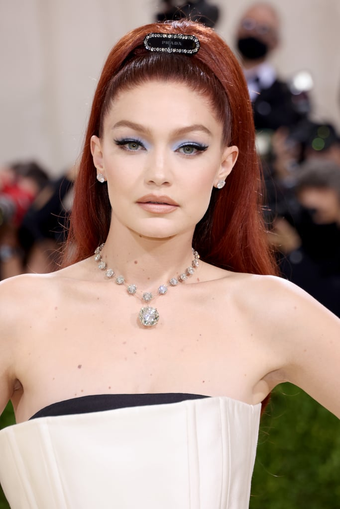 See Gigi Hadid's Red Hair Colour At the Met Gala 2021