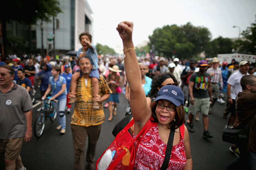 People gathered and celebrated in the streets as they marched through the nation's capital.