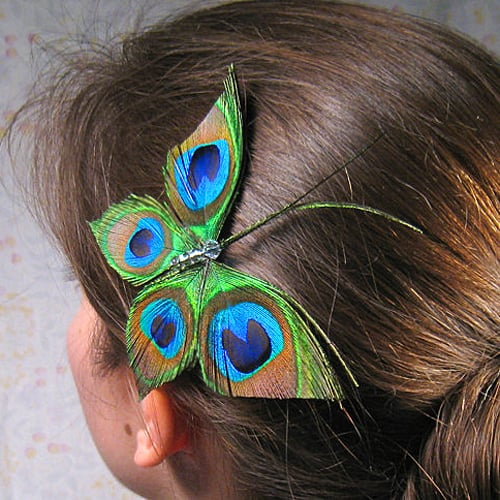 Peacock Hair Accessory From Etsy Popsugar Beauty