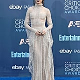 When Lily Collins Turns Around, Her Elie Saab Gown Is Even Better From the Back