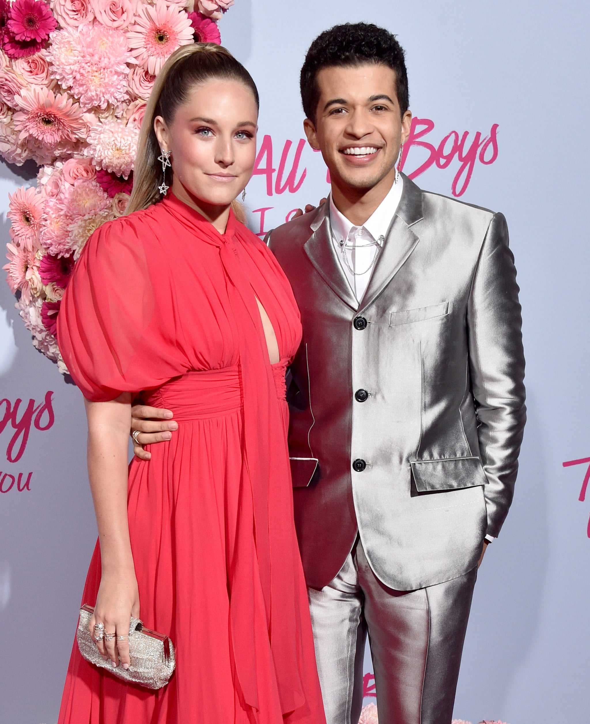 HOLLYWOOD, CALIFORNIA - FEBRUARY 03:  Ellie Woods and Jordan Fisher attend the Premiere Of Netflix's
