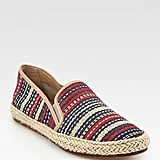 Belle by Sigerson Morrison Nudie Woven Raffia Leather Espadrilles ($150)