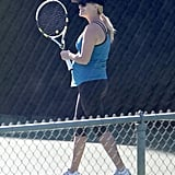 Reese Witherspoon's kids weren't the only ones active this Summer. The expectant mama was seen playing tennis, hiking, and jogging throughout her third pregnancy.