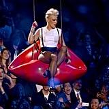 Pink performed in suspenders at the VMAs.