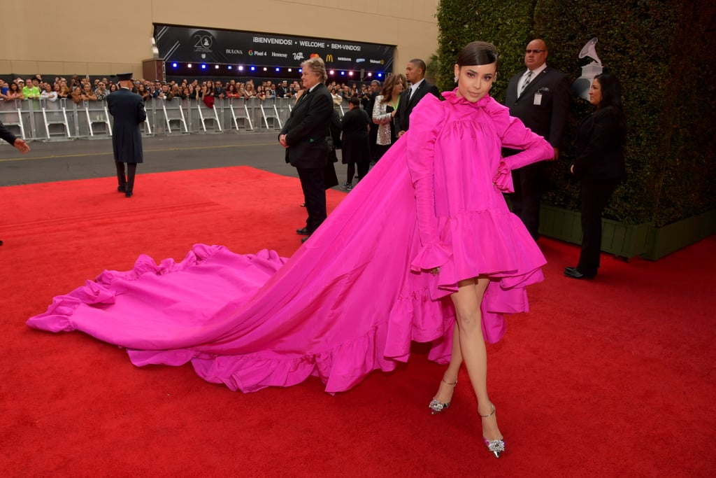 Sofia Carson Pink Giambattista Valli Dress at Latin Grammys