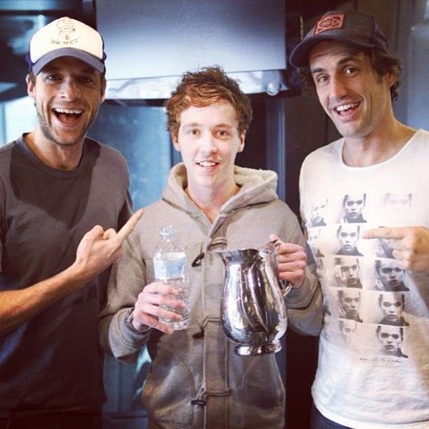 Hamish Blake and Andy Lee got up to their usual shenanigans on their radio show. Source: Instagram user hamishandandy