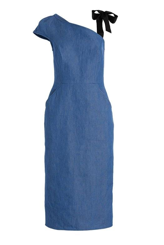 Arias One-Shoulder Dress with Ribbon