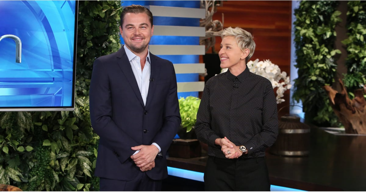 Leonardo dicaprio on the ellen show november 2016 popsugar celebrity - Ellen show videos ...